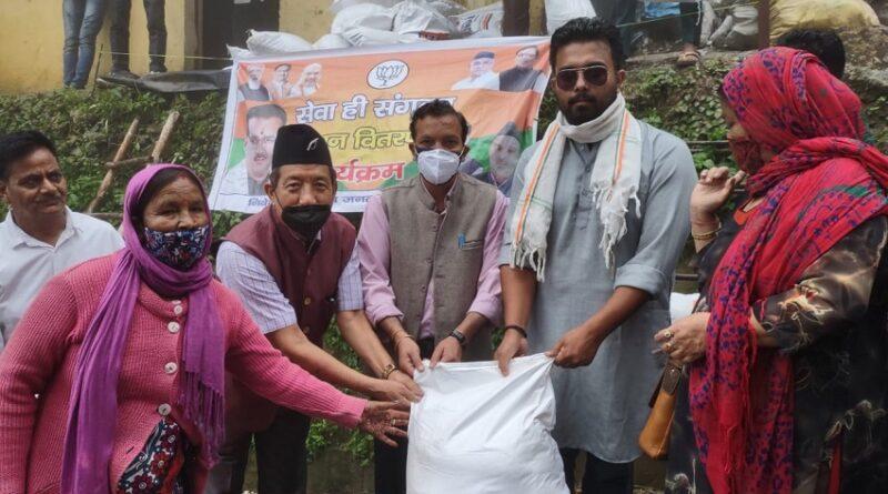 मसूरी – भाजपा ने जरूरतमंदों को 350 से अधिक राशन किट वितरित किए।